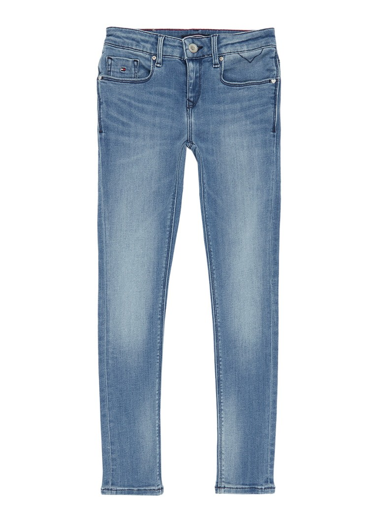 Tommy Hilfiger Nora skinny jeans met faded look