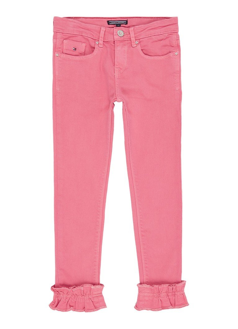 Tommy Hilfiger Nora skinny jeans met ruches