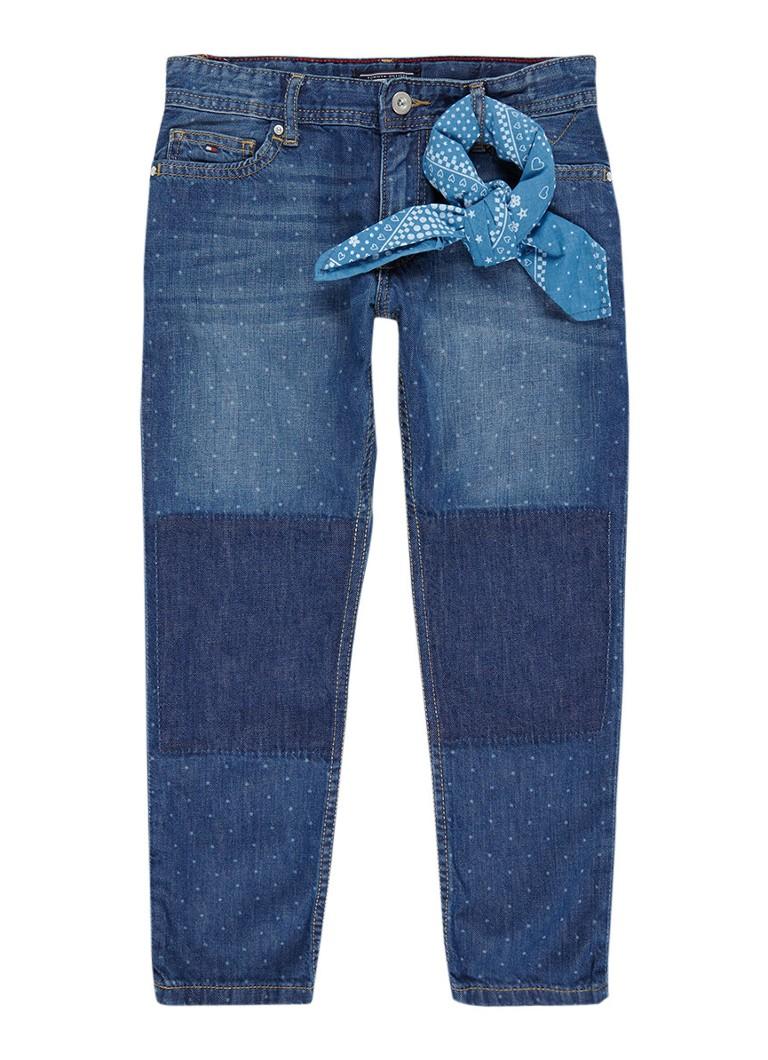 Tommy Hilfiger Lana straight fit jeans met sjaaldetail