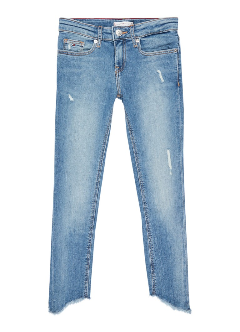 Tommy Hilfiger Skinny fit jeans met gerafelde zoom