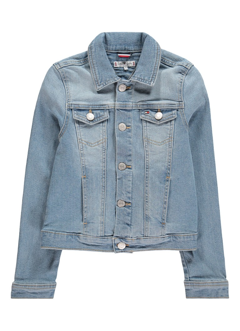 Image of Tommy Hilfiger Jack van denim met teddy logodetail