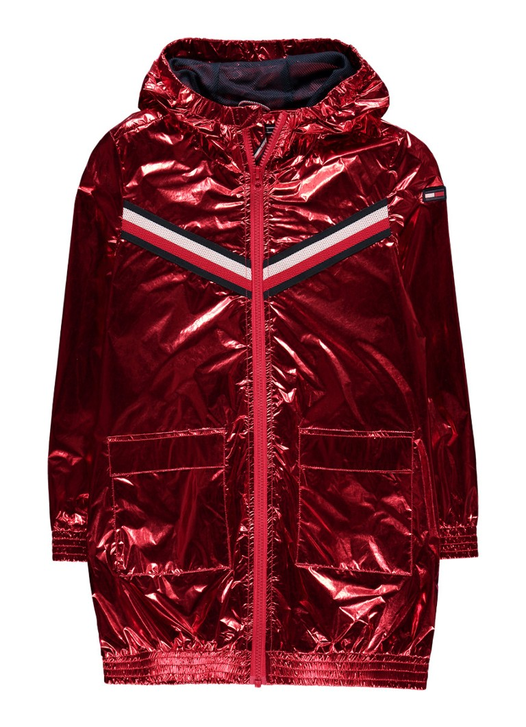 Tommy Hilfiger Parka met metallic finish en logoprint