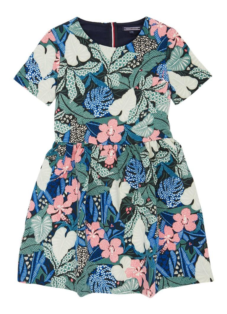 Tommy Hilfiger A-lijn jurk met bloemenprint