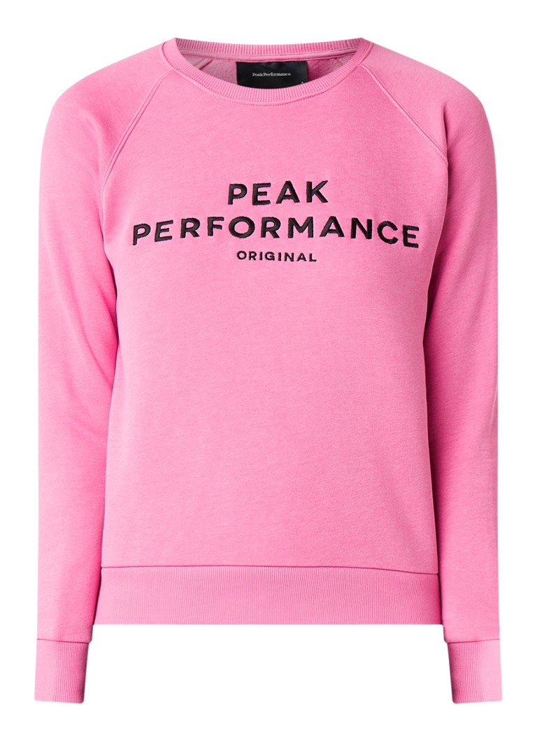Peak Performance Sweater met logoborduring