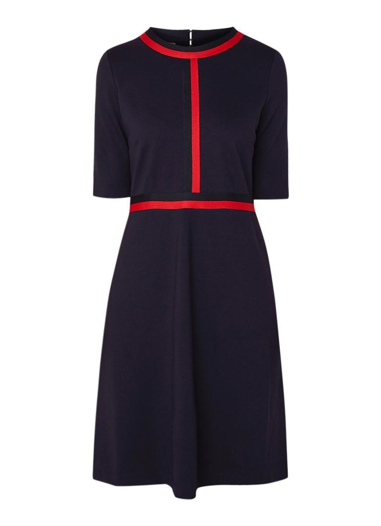 Hobbs Delia A-lijn jurk met gestreept boord