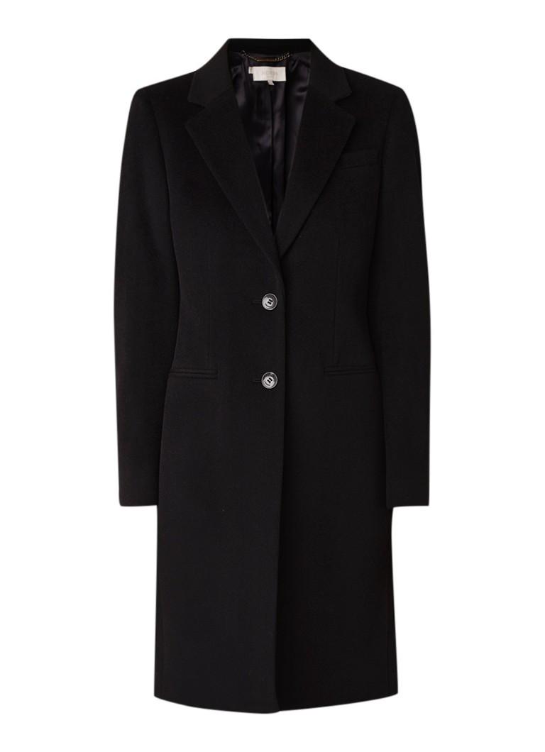 Hobbs Tilda mantel van wol met paspelzakken