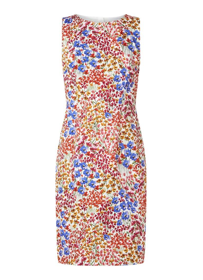 Hobbs Fiona mouwloze midi-jurk met bloemendessin rood