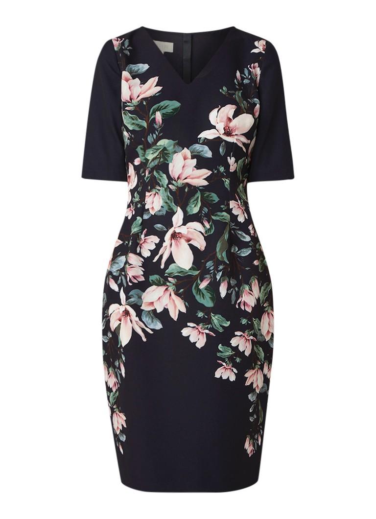 Hobbs Astraea midi-jurk van neopreen met bloemendessin multicolor