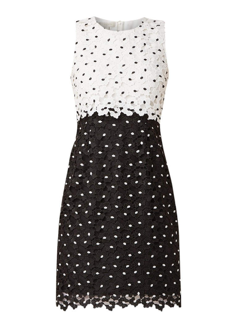 Hobbs Lulu mouwloze midi-jurk van gebloemd kant zwart