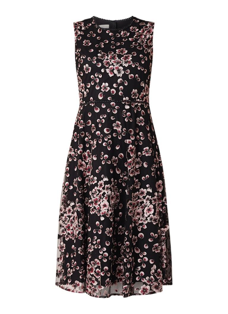 Hobbs Lilith A-lijn jurk met bloemendessin zwart