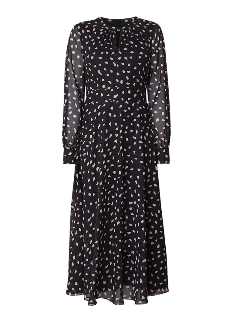 Hobbs Quin maxi-jurk met stippendessin zwart
