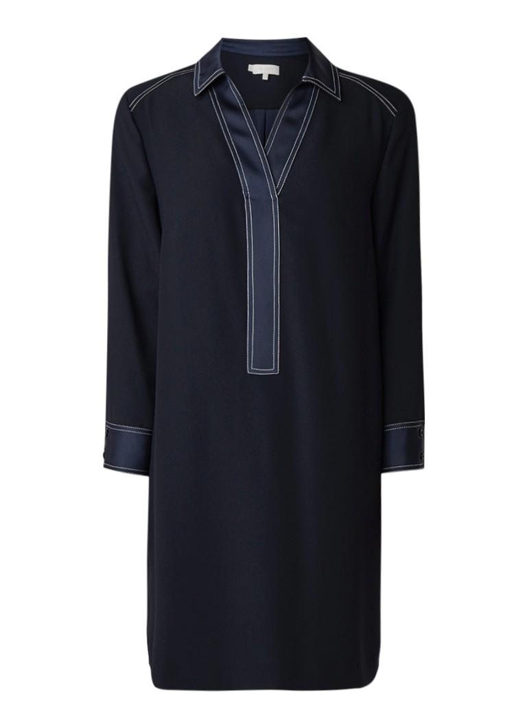 Hobbs Tora tuniekjurk met contraststiksels donkerblauw