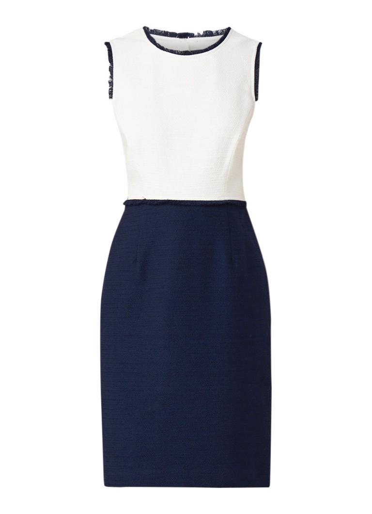 Hobbs Alice midi-jurk met colour blocking en franjes donkerblauw