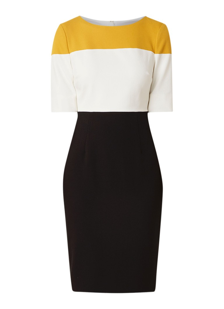 Hobbs Marietta tuniekjurk van crêpe met colour block multicolor