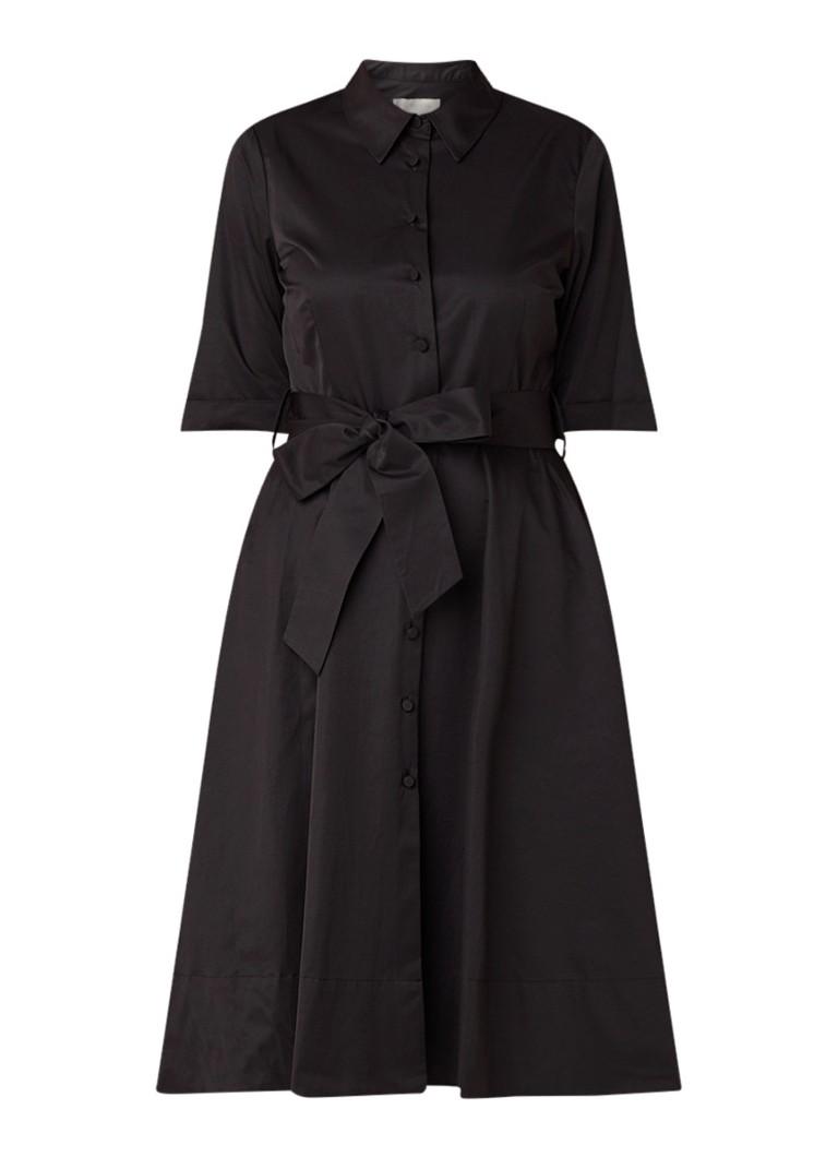 Hobbs Tyra blousejurk met strikceintuur zwart