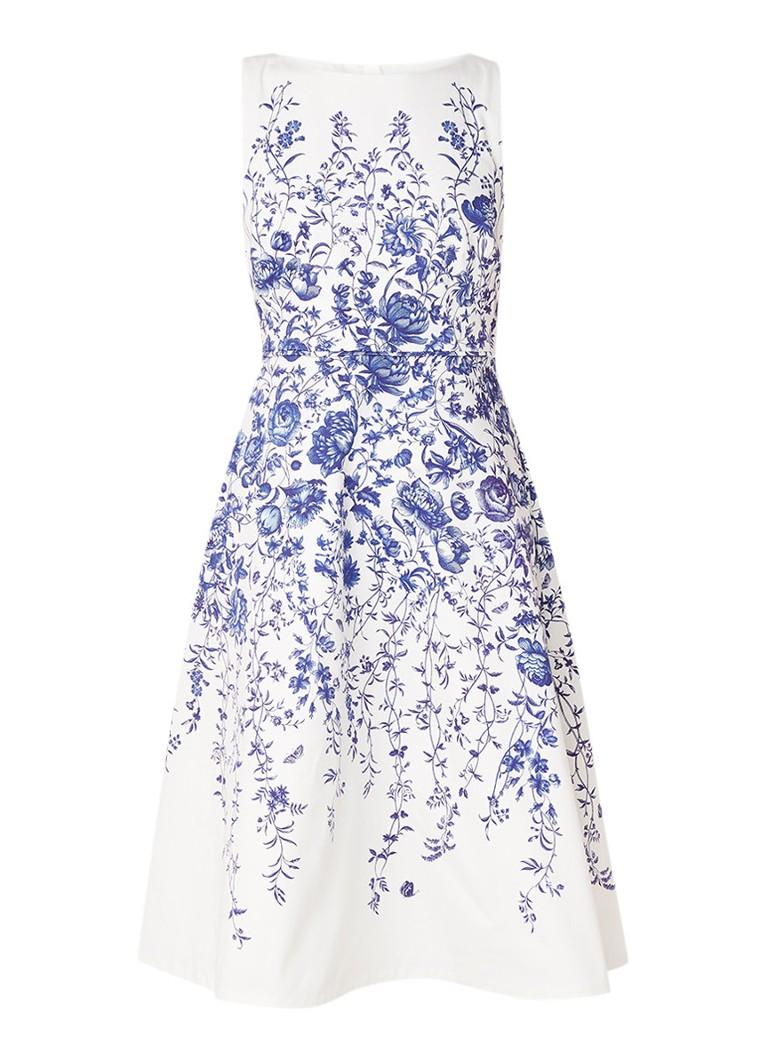 Hobbs Sissinghurst midi-jurk met bloemendessin blauw