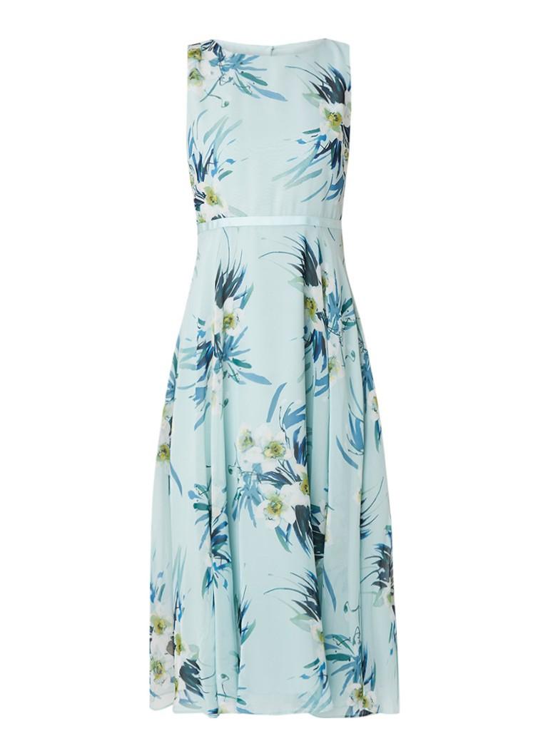 Hobbs Carly midi-jurk met bloemendessin mint