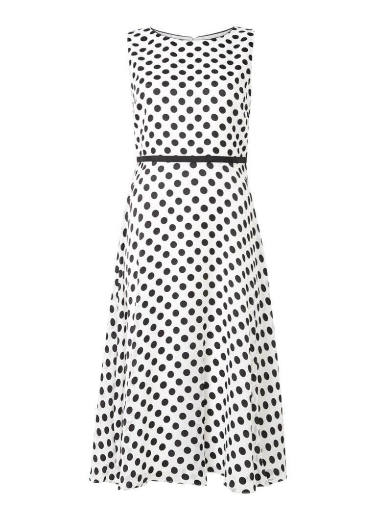 Adeline midi jurk van mesh met stippenprint