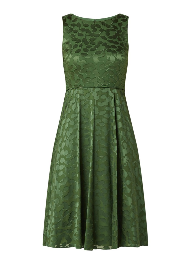 Adeline midi jurk met satijn