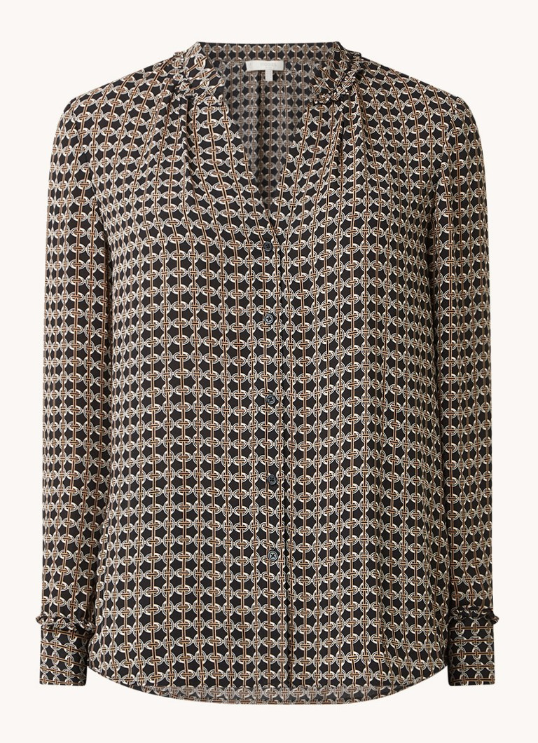 Alison blouse met V hals en print