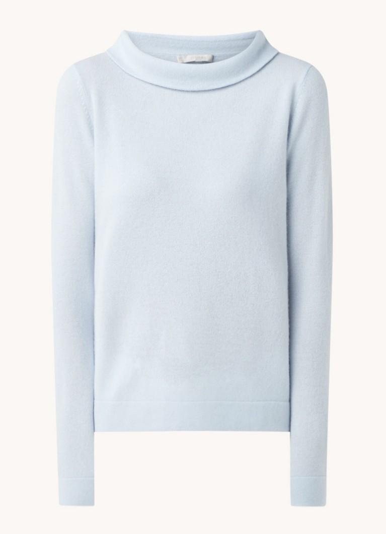 Audrey fijngebreide trui met opstaande kraag
