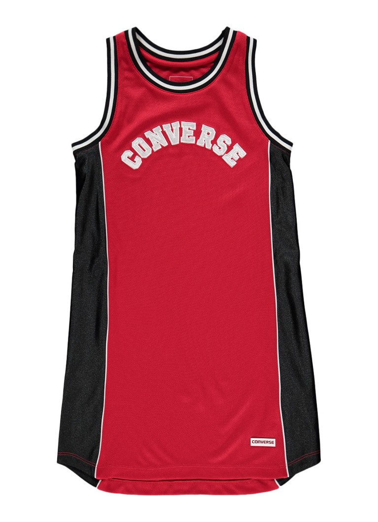 Converse Jerseyjurk met logoprint in basketbal look