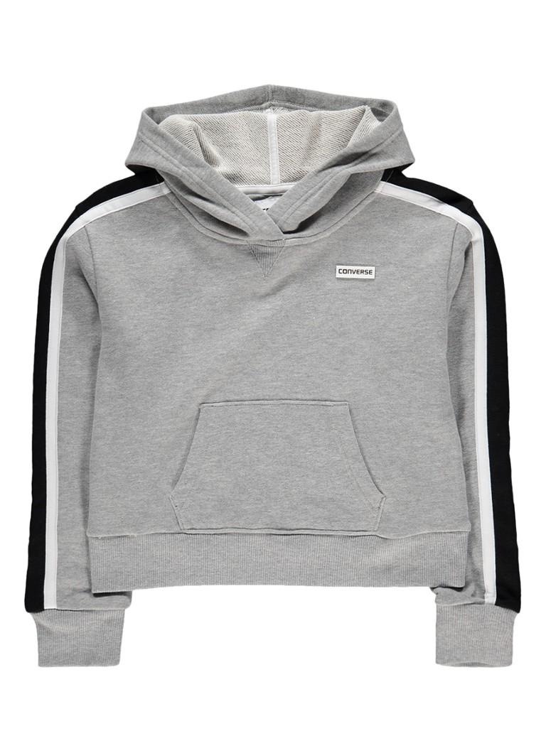 Converse Gemêleerde hoodie met gestreepte boorden