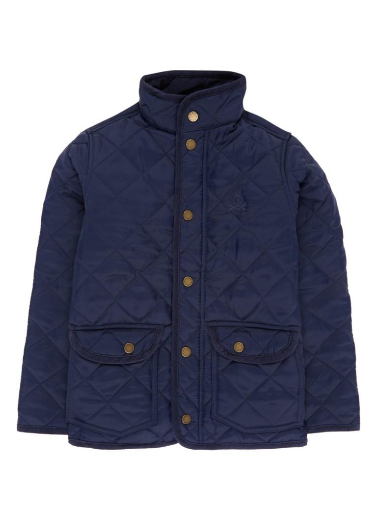 Benetton Doorgestikte jas met