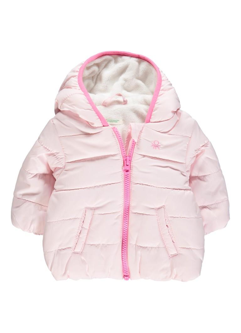 Image of Benetton Gewatteerde jas met fleece voering
