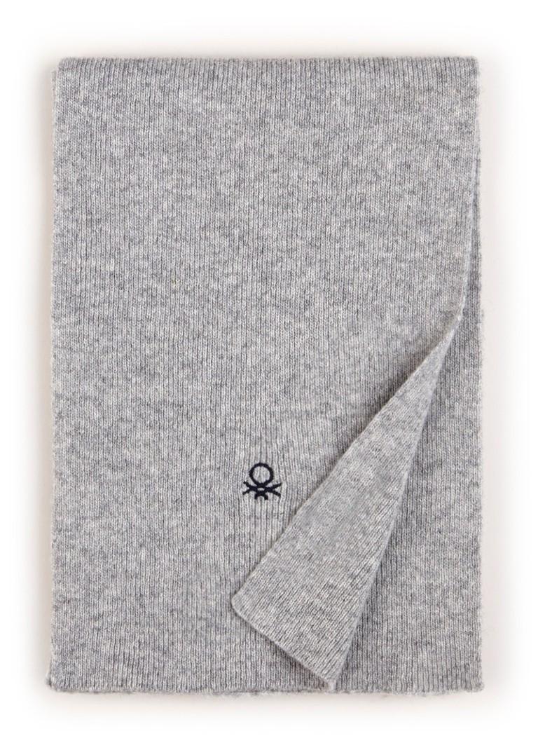 Benetton Fijngebreide sjaal in wolblend 140 x 20 cm