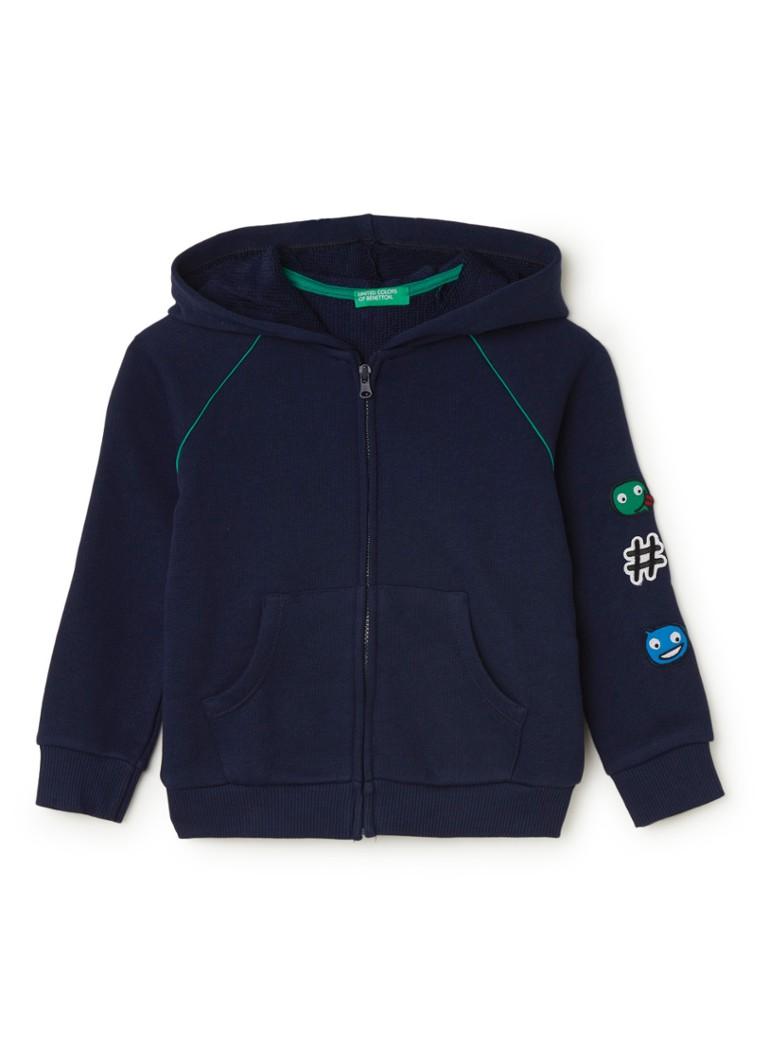 Benetton Sweatvest met capuchon