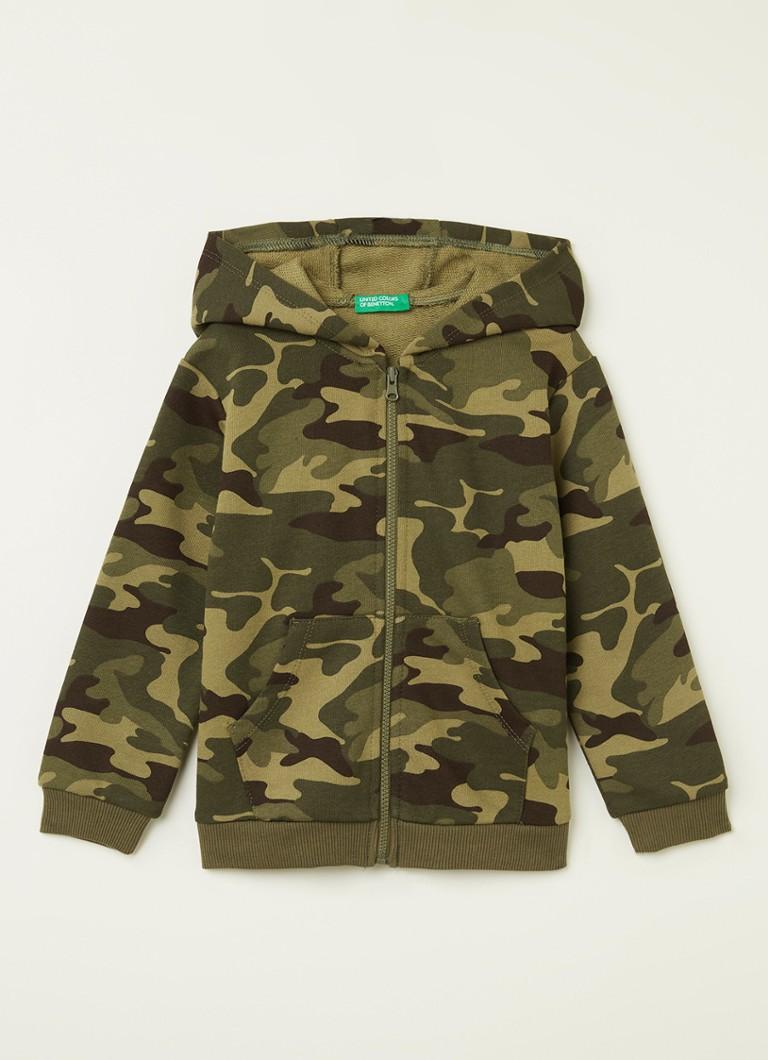 Benetton Sweatvest met camouflageprint