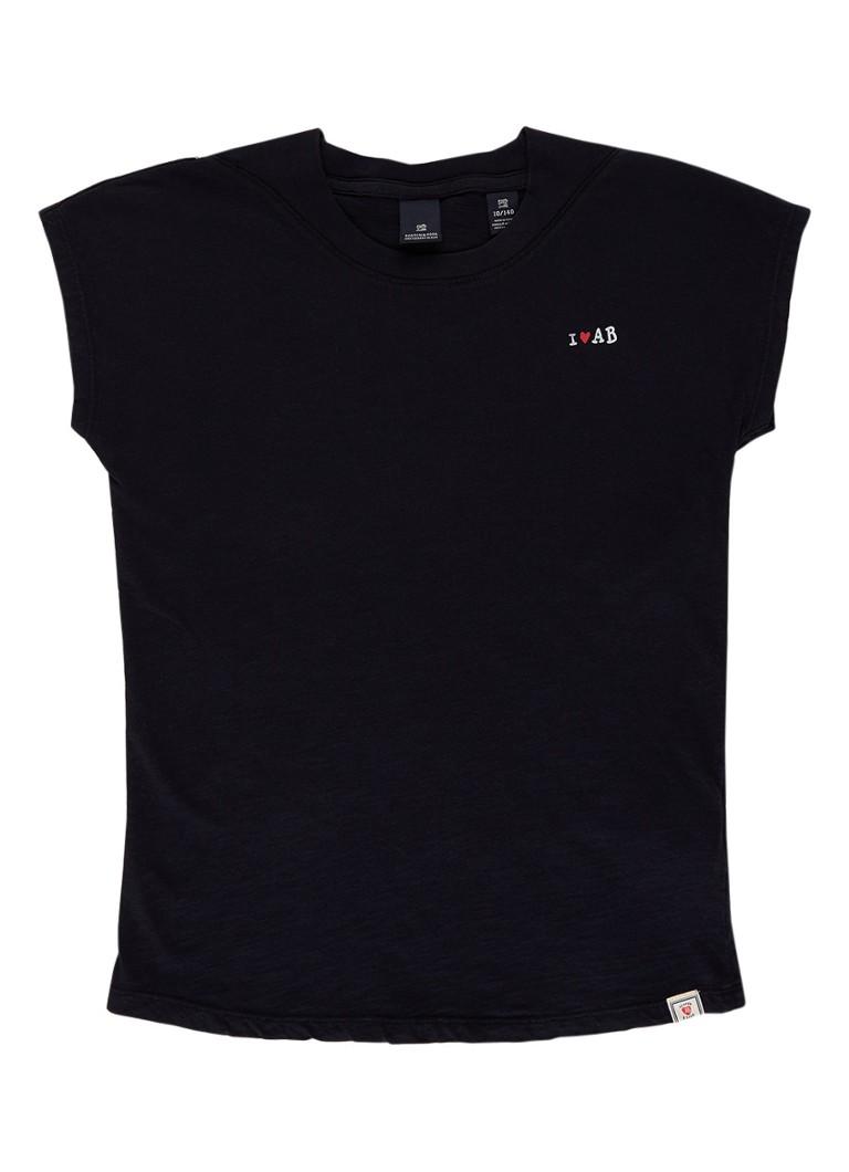 Scotch R'Belle T-shirt van katoen met tekstprint