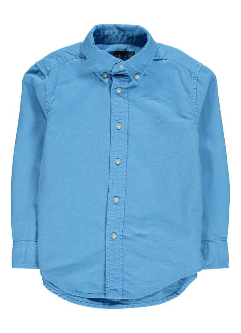 Ralph Lauren Overhemd in uni met logoborduring