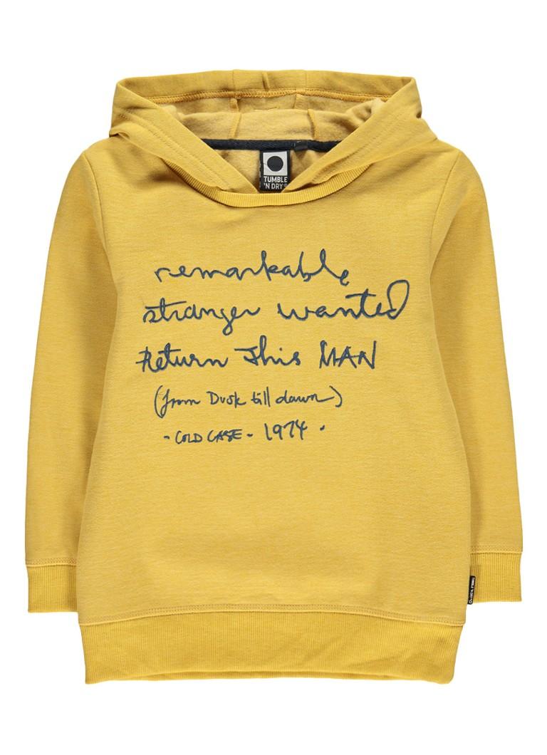 Tumble 'n Dry Malvin hoodie met tekstborduring