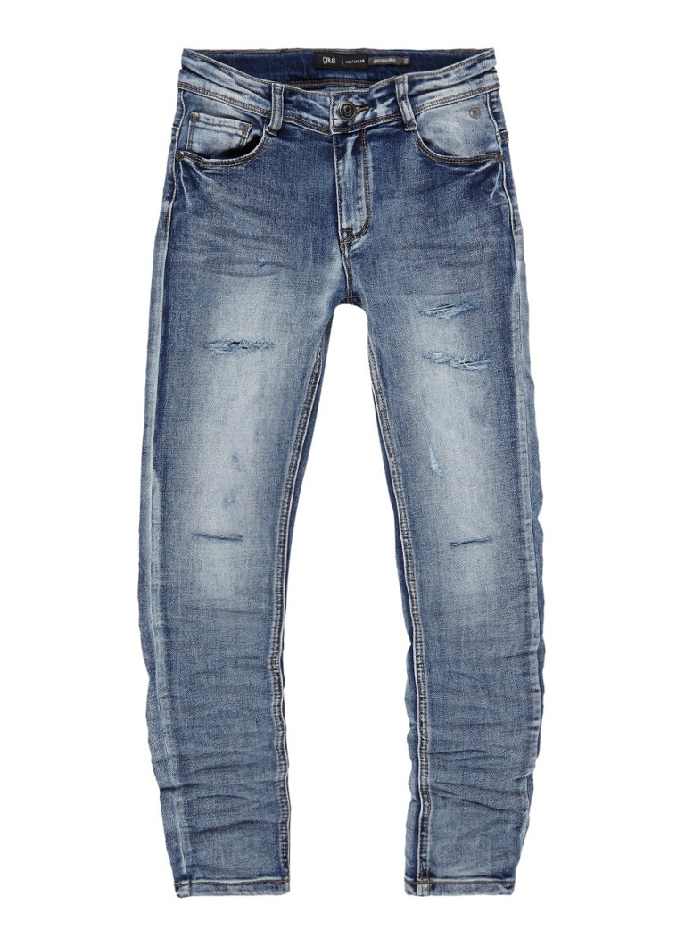 gsus sindustries Jussi tapered fit jeans met destroyed details