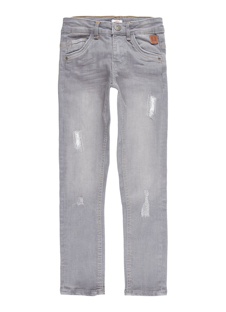 Tumble 'n Dry Franc extra slim fit jeans met destroyed details