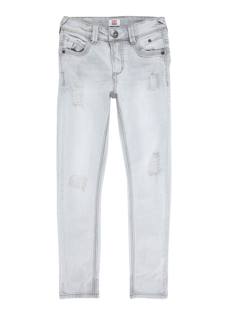 Tumble 'n Dry Franc extra slim fit jeans met destroyed look