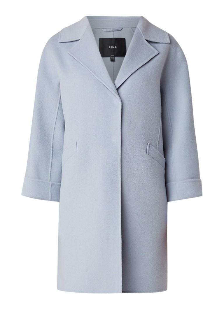ARMA Bollene mantel van scheerwol met driekwart mouw