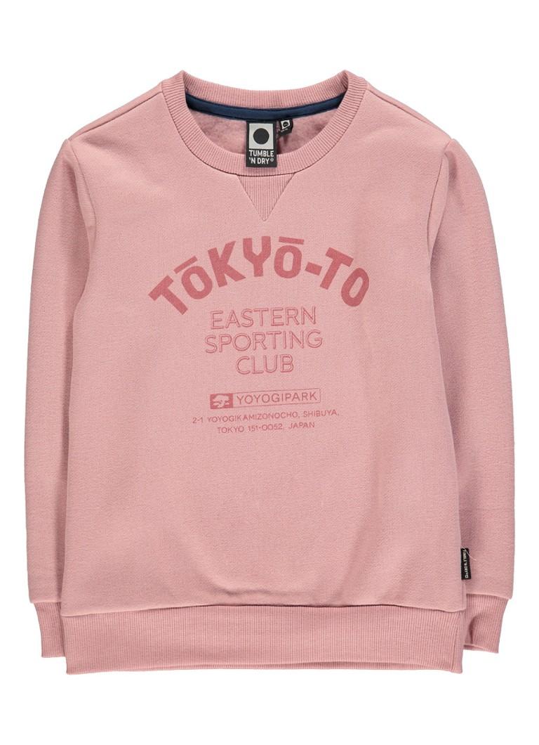 Tumble 'n Dry Leevi sweater met tekstprint