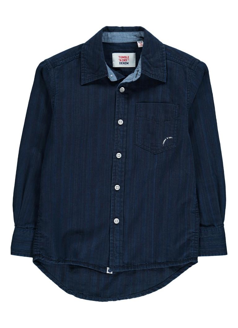 Tumble 'n Dry Merlin overhemd met subtiel streepdessin en borstzak