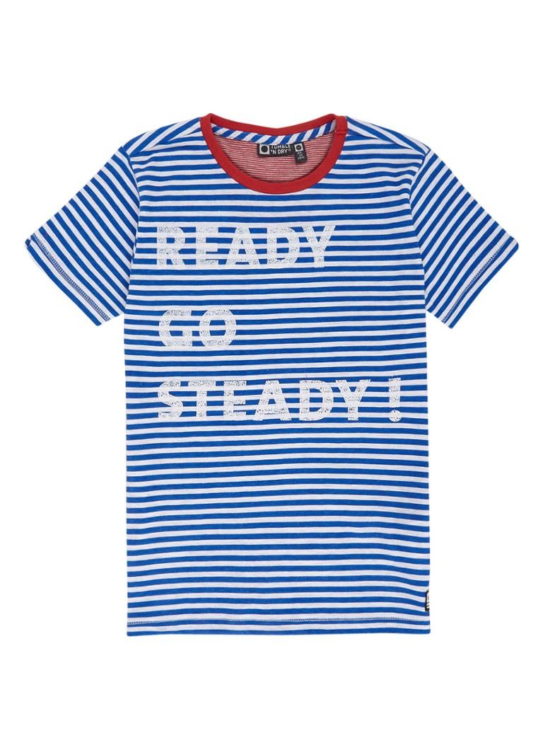 Tumble 'n Dry Marx T-shirt met streepdessin en tekstopdruk