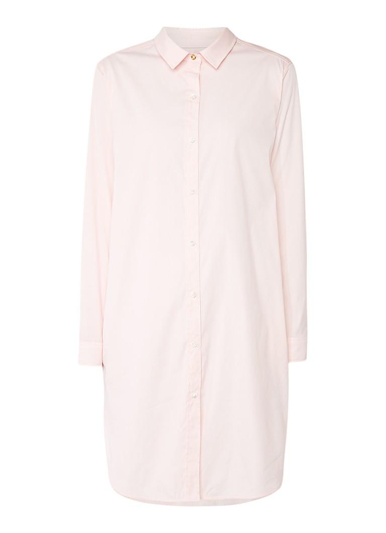 Vanilia Loose fit blousejurk met steekzakken lichtroze