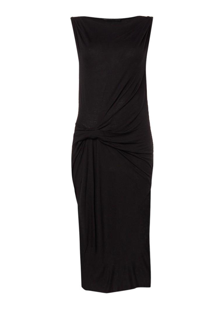 AllSaints Riviera Tavi midi-jurk van jersey met splits zwart