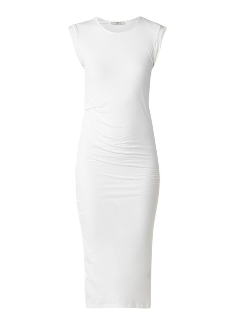 AllSaints Gamma maxi-jurk met plooidetail en split wit