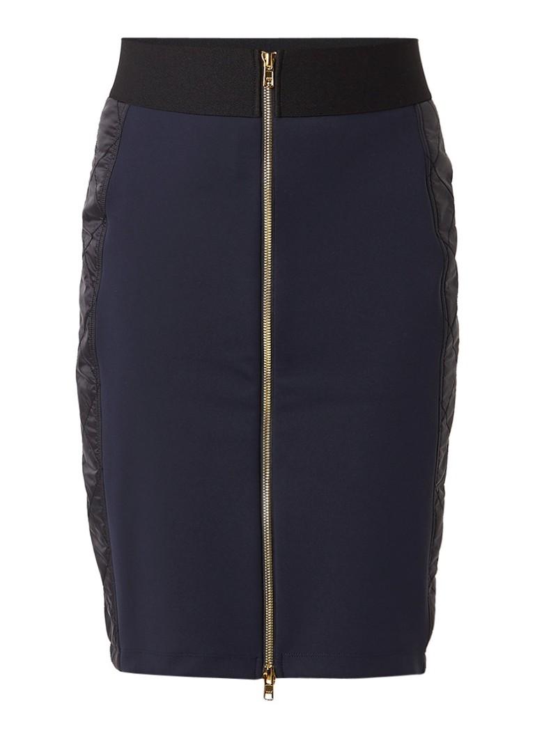Rokken Vanilia Ripple shape rok met quilted inzet Donkerblauw