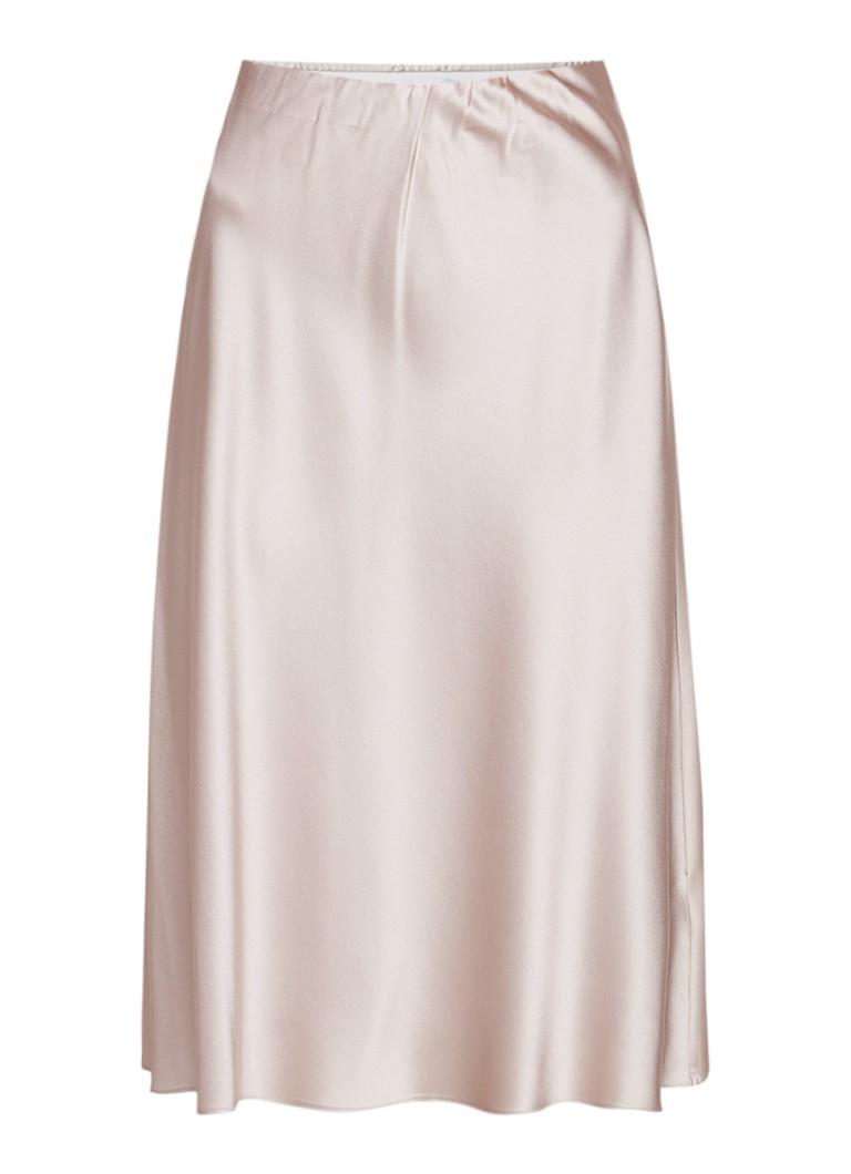Vanilia A-lijn rok van zijde met elastische tailleband