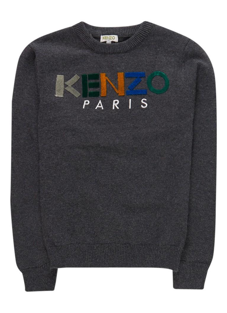 KENZO Emilio pullover met logoborduring
