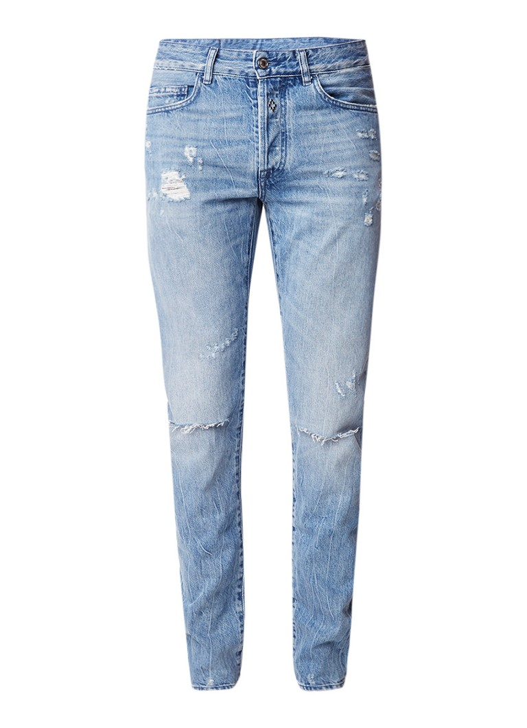 Marcelo Burlon Blue Wing slim fit jeans met borduring