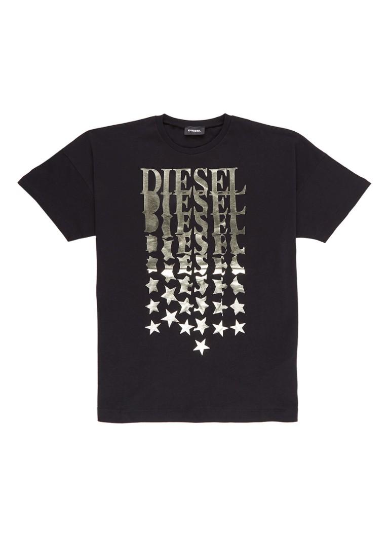 Diesel Taddea T-shirt van katoen met metallic print
